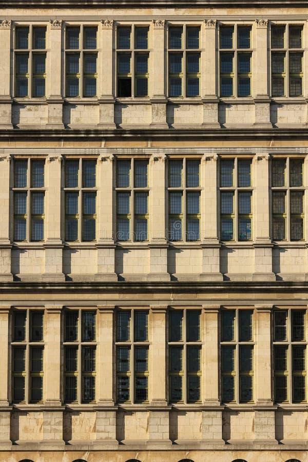 Urzędów Miasta okno korniszon Belgia obraz royalty free