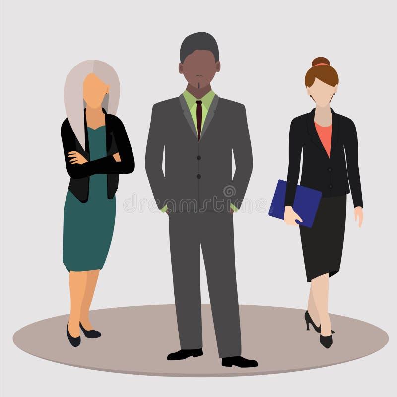 Urzędnicy, ludzie biznesu w garniturach również zwrócić corel ilustracji wektora royalty ilustracja