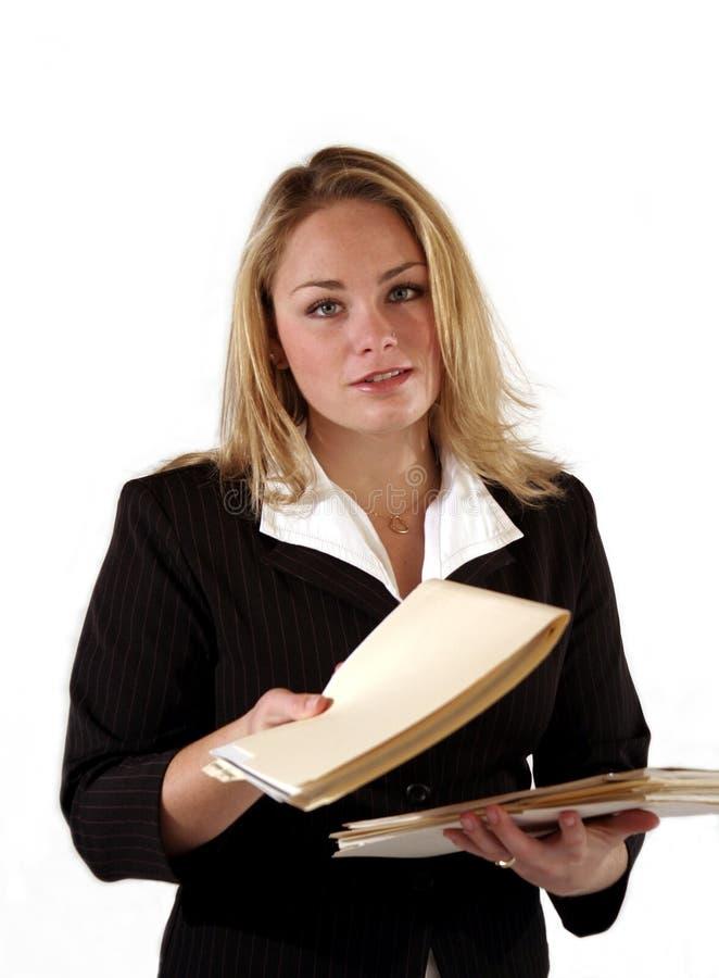 urzędnik żeńskich fotografia stock