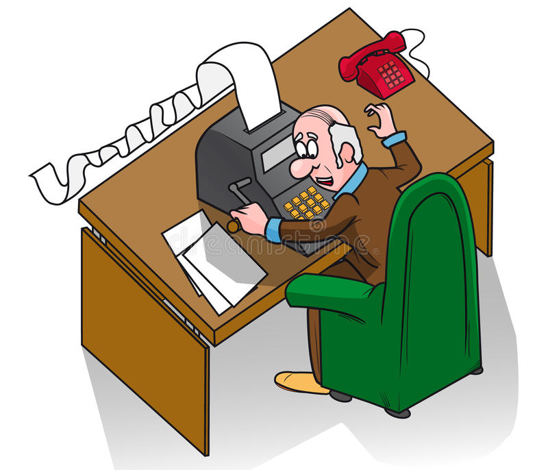 urzędnik ilustracja wektor