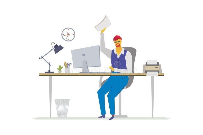 Urzędnik - płaskiego projekta stylu kolorowa ilustracja ilustracja wektor