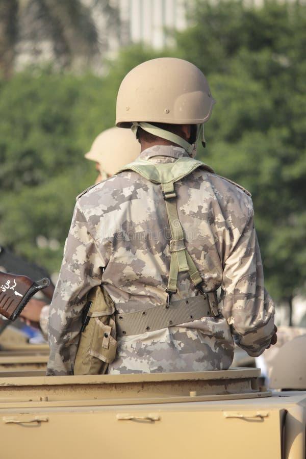 Urzędnik wojskowy na obowiązku zdjęcie stock