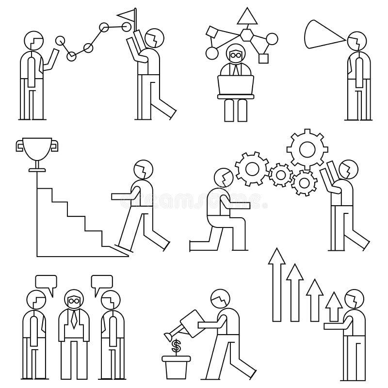Urzędnik, zarządzania przedsiębiorstwem pojęcie royalty ilustracja