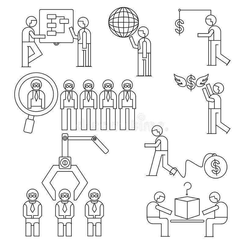 Urzędnik, zarządzania przedsiębiorstwem pojęcie ilustracji