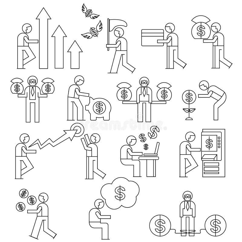 Urzędnik, zarządzania przedsiębiorstwem pojęcie ilustracja wektor
