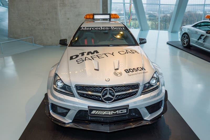 Urzędnika DTM Safery Mercedes-Benz C63 AMG samochodowy Coupe, 2012 zdjęcie stock