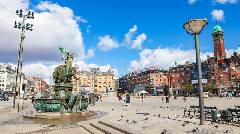 Urzędu Miasta kwadrat w Kopenhaga zdjęcia royalty free