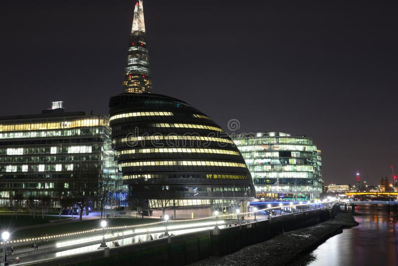 urzędu miasta London noc fotografia stock