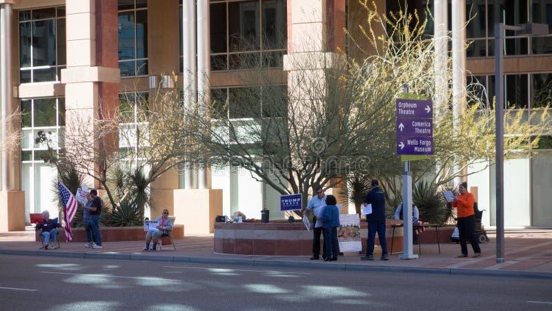 Urzędu Miasta wiec, Phoenix, AZ obrazy royalty free
