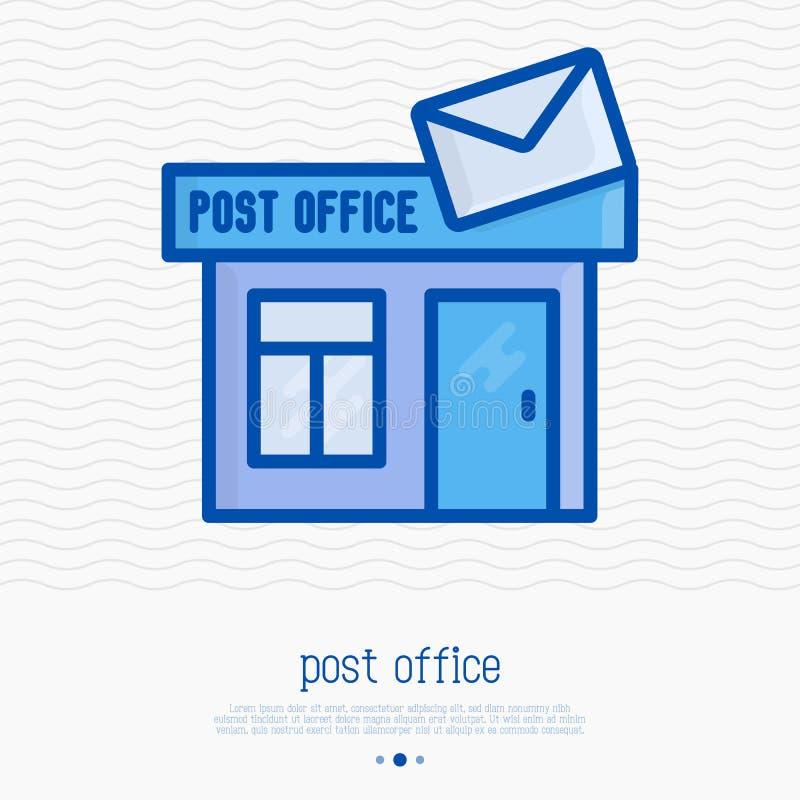 Urzędu pocztowego budynek z kopertą ilustracja wektor