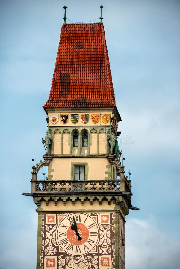 Urz?d Miasta wierza w Passau, Bavaria obrazy stock