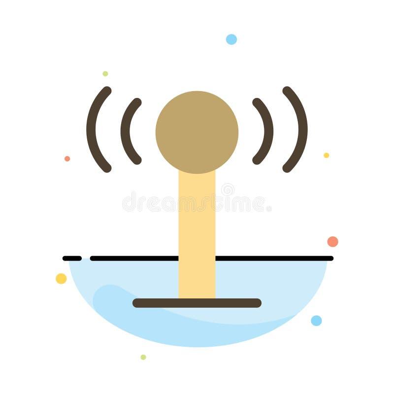 Usługa, sygnał, Wifi koloru ikony Abstrakcjonistyczny Płaski szablon ilustracja wektor