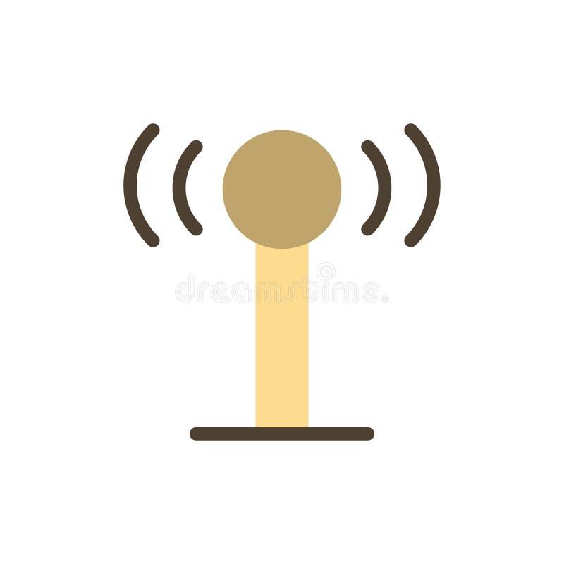 Usługa, sygnał, Wifi koloru Płaska ikona Wektorowy ikona sztandaru szablon royalty ilustracja