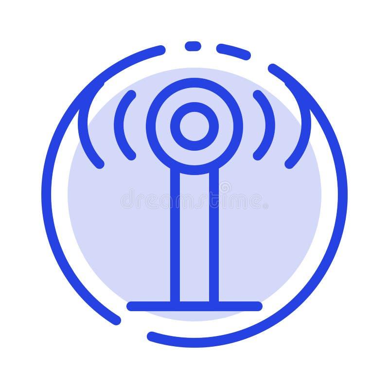 Usługa, sygnał, Wifi linii linii błękit Kropkująca ikona ilustracja wektor