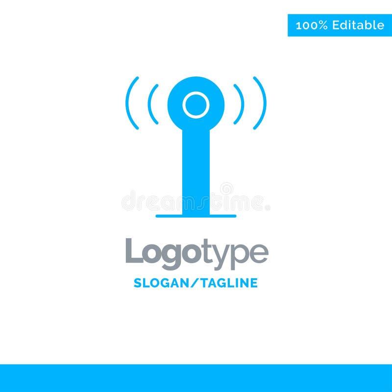 Usługa, sygnał, Wifi logo Błękitny Stały szablon Miejsce dla Tagline ilustracja wektor