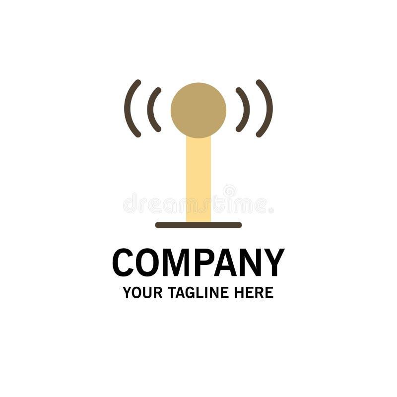 Usługa, sygnał, Wifi logo Biznesowy szablon p?aski kolor ilustracja wektor