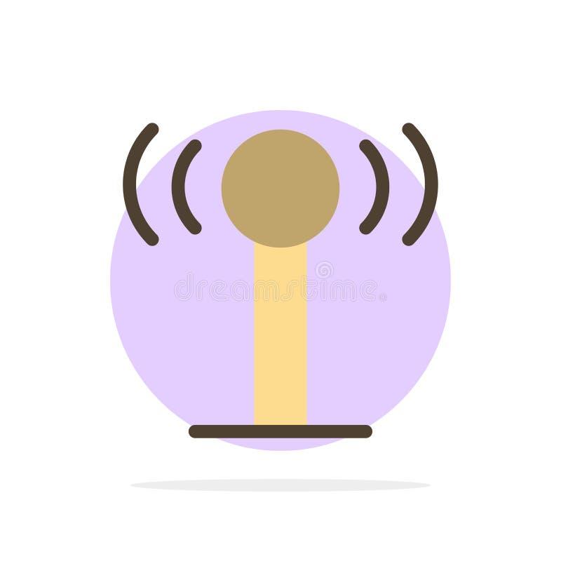 Usługa, sygnał, Wifi okręgu Abstrakcjonistycznego tła koloru Płaska ikona royalty ilustracja