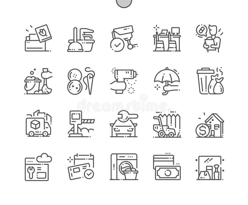 Usługa Wykonujący ręcznie piksel Doskonalić wektor ilustracji