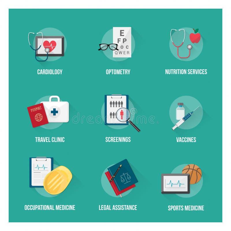 Usługa zdrowotne i opieka zdrowotna ilustracji