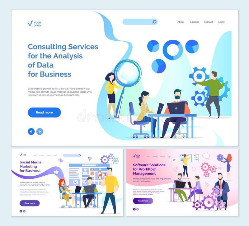 Usługi doradcze analiza biznesowi dane ilustracji