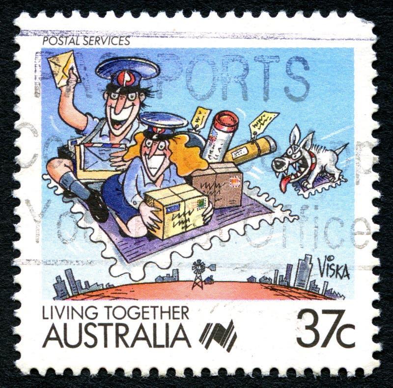 Usługi Pocztowe australijczyka znaczek pocztowy fotografia royalty free