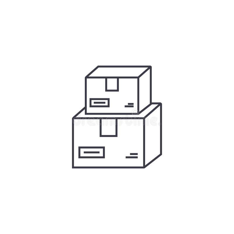 Usługi pocztowe wektoru linii ikona, znak, ilustracja na tle, editable uderzenia