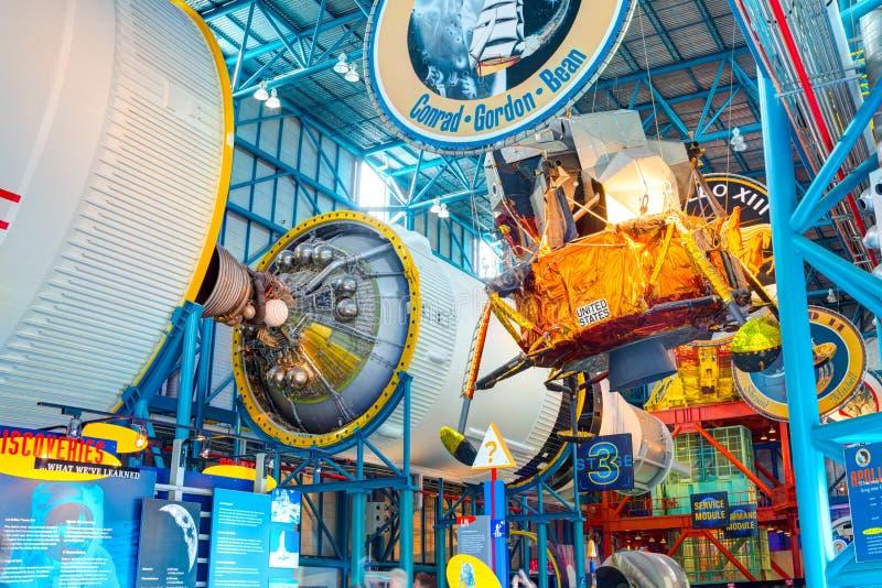 Usługowy moduł s Saturn 5 rakieta fotografia stock