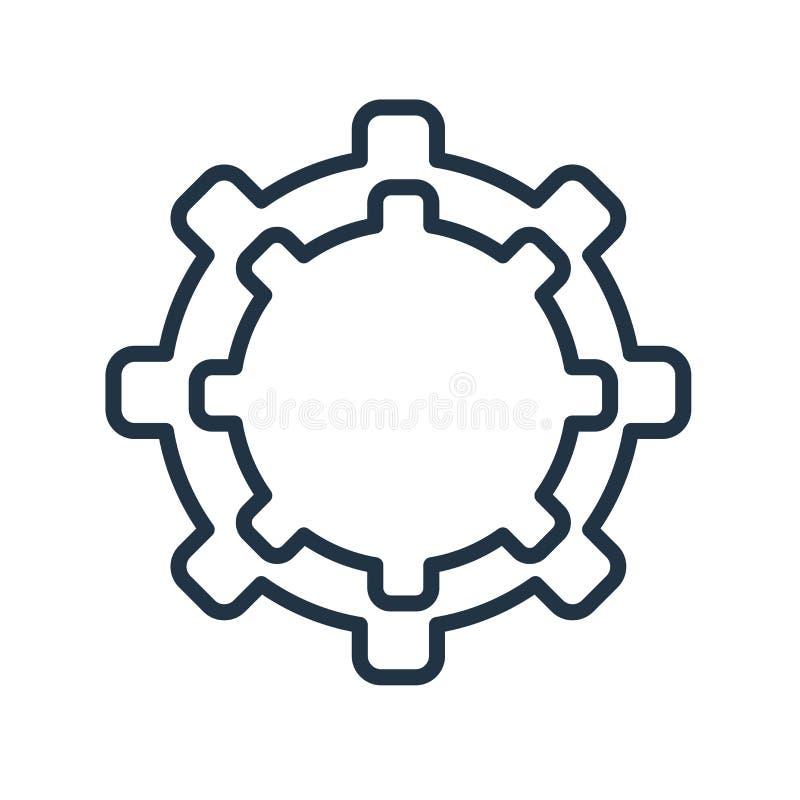 Usługuje ikona wektor odizolowywającego na białym tle, usługa podpisuje royalty ilustracja