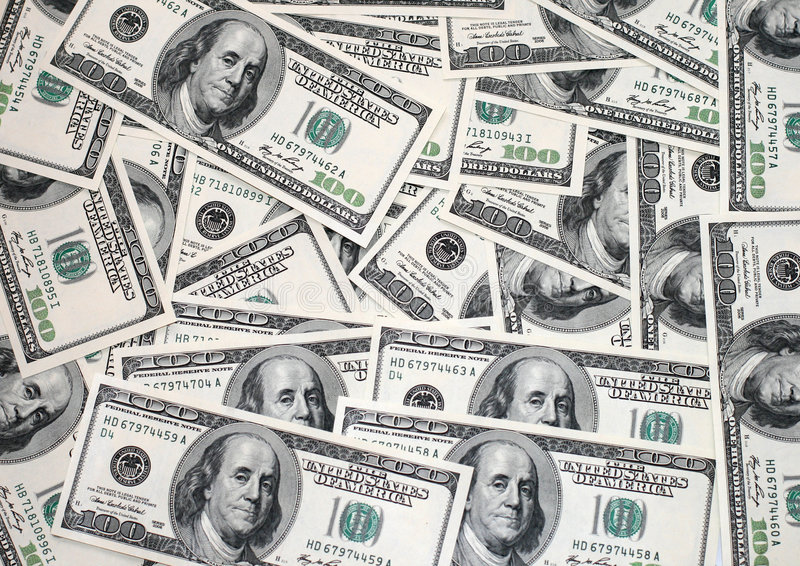 US 100 Dollar Bills Royalty Free Stock Images