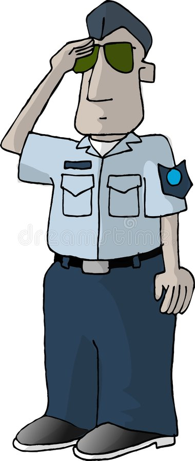 US Air Force man vector illustration