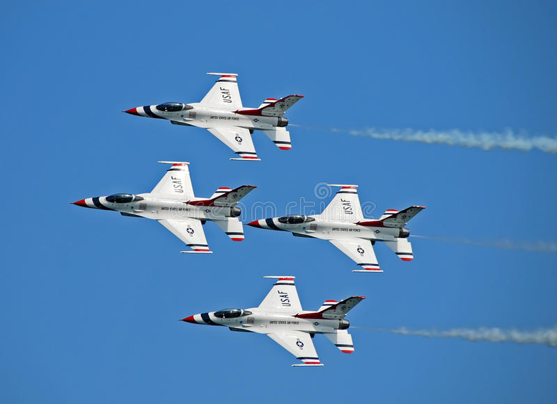 US Air Force Thunderbirds royalty free stock photos