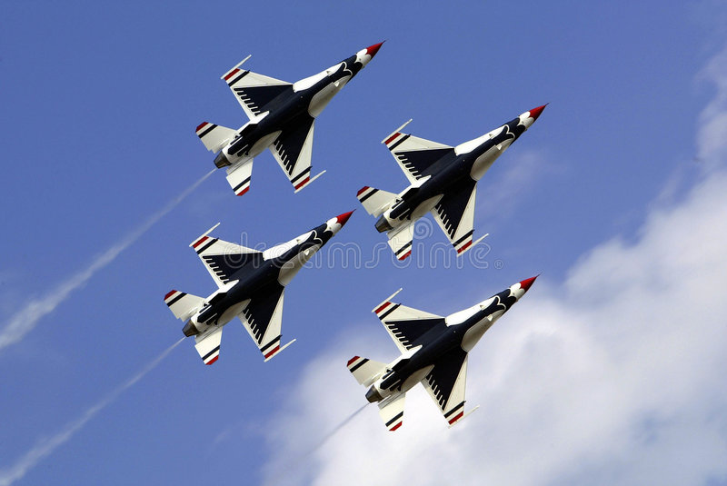 US Air Force Thunderbirds stock image