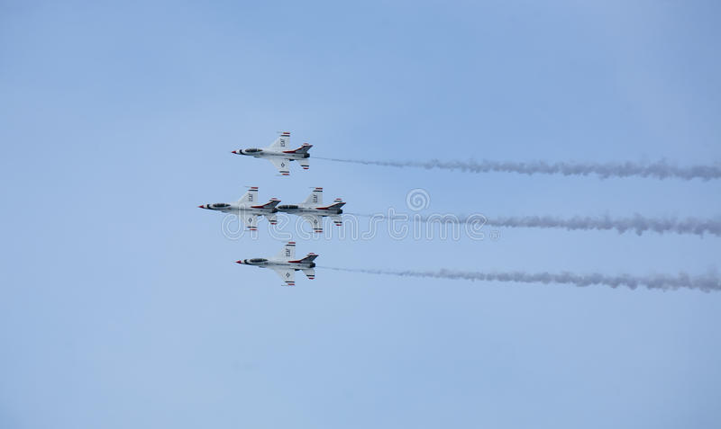 US Air Force Thunderbirds jet planes stock photography
