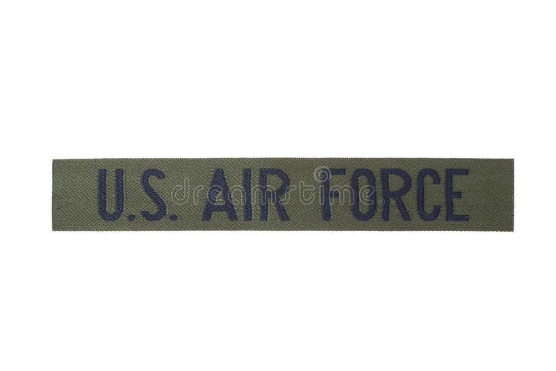 Us air force uniform badge royalty free stock photo