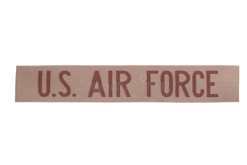 Us air force uniform badge. Isolated stock photos