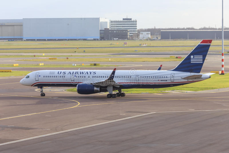 US Airways 757 images stock