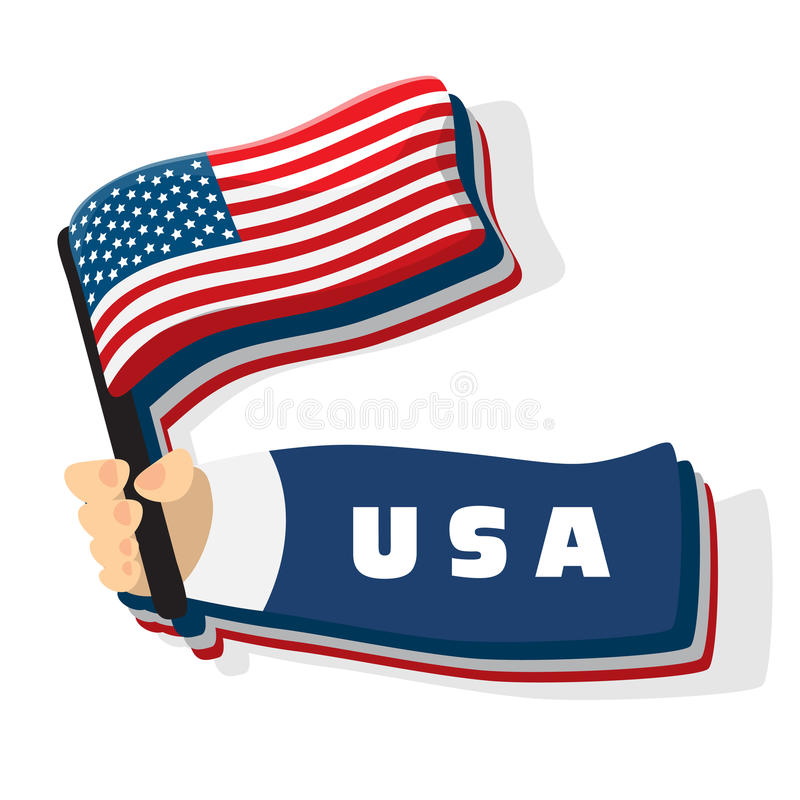 Download US American flag stock vector. Image of illustration - 20592056
