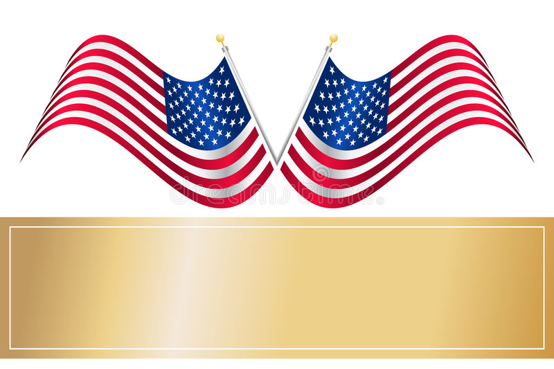 Download US American Flag stock vector. Illustration of glossy - 4253042