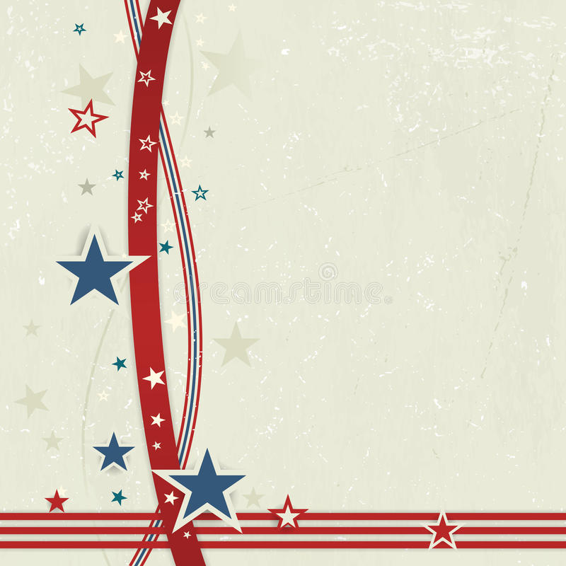 USA patriotic background in red, blue and off white. vector illustration