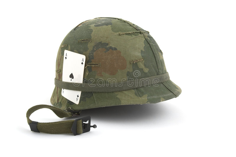 US Army helmet - Vietnam era royalty free stock image