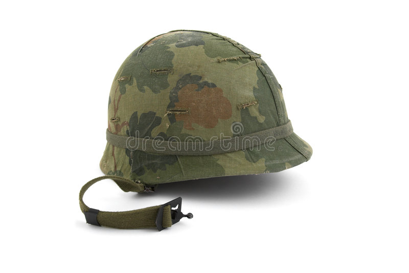 US Army helmet - Vietnam era royalty free stock photo