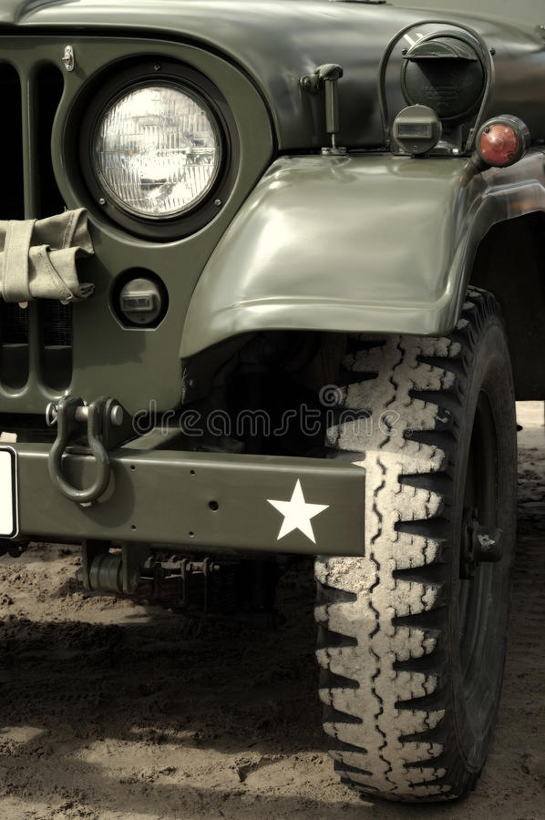US Army Jeep In Desert Royalty Free Stock Image