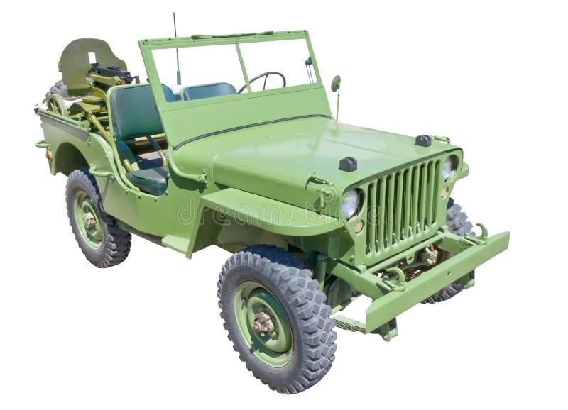 US army jeep. World war 2 era US army jeep with machine gun stock photos