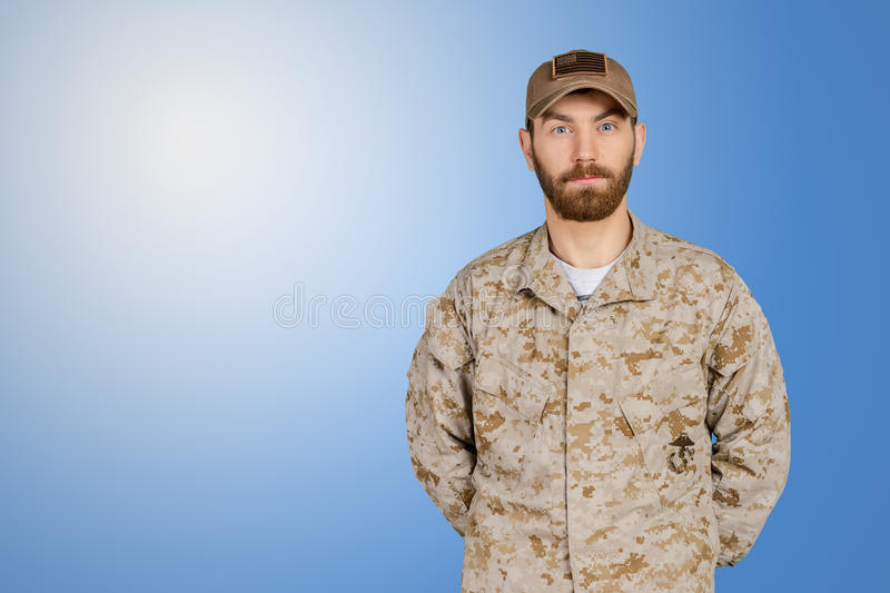 US army military man. In uniform stock images