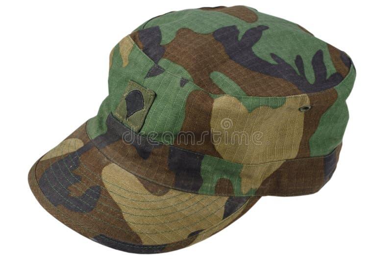 us army patrol cap on a white royalty free stock photos