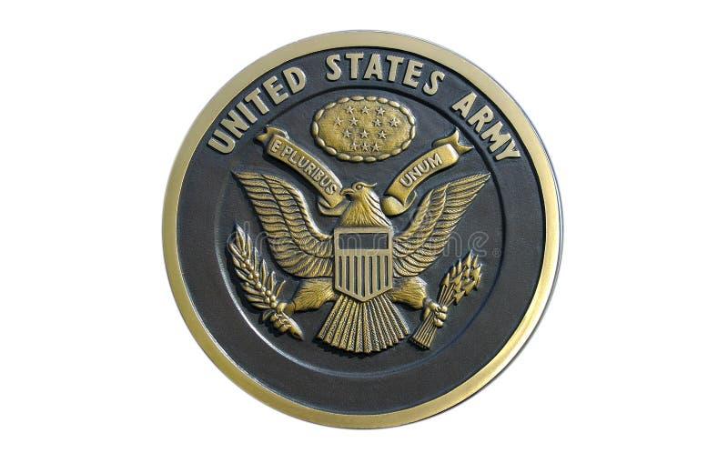 US Army Plaque stock photos