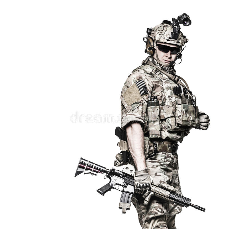 US Army Ranger with weapon royalty free stock images