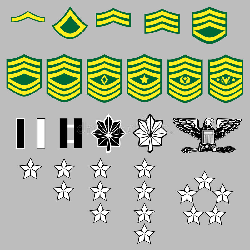 Free US Army Rank Insignia Royalty Free Stock Image - 8820846