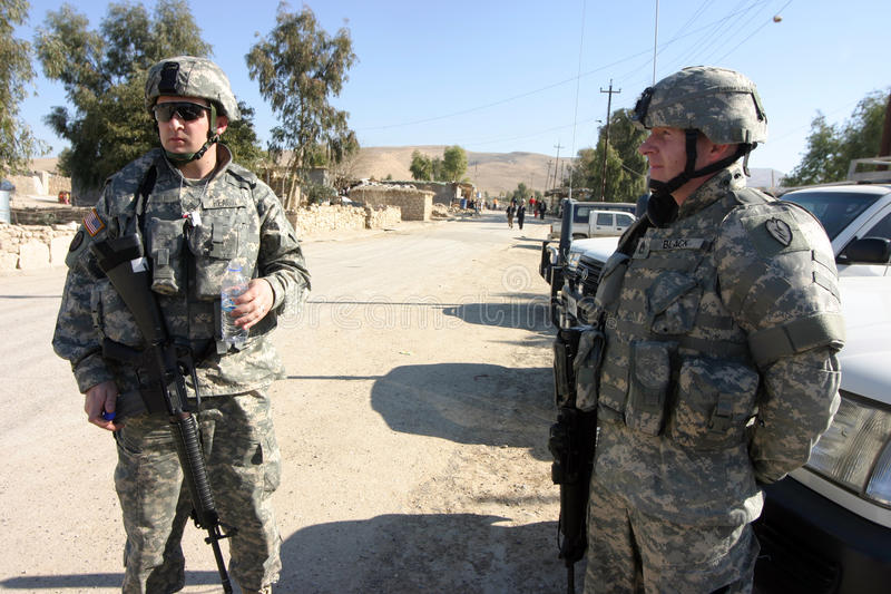 US Army Soldiers royalty free stock photo