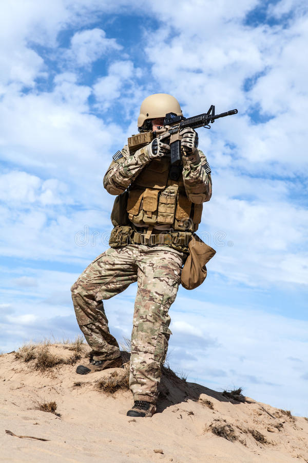 US Army Special Forces Group soldier stock photography